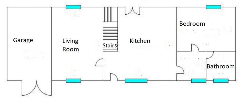 Floorplan ND de Touchet village house with gite