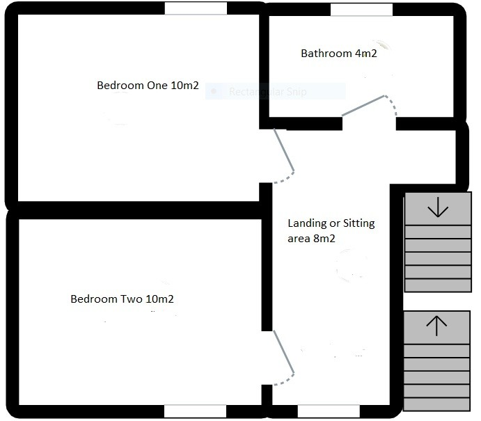 Barenton girls Floorplan 2 Detached stone cottage Barenton