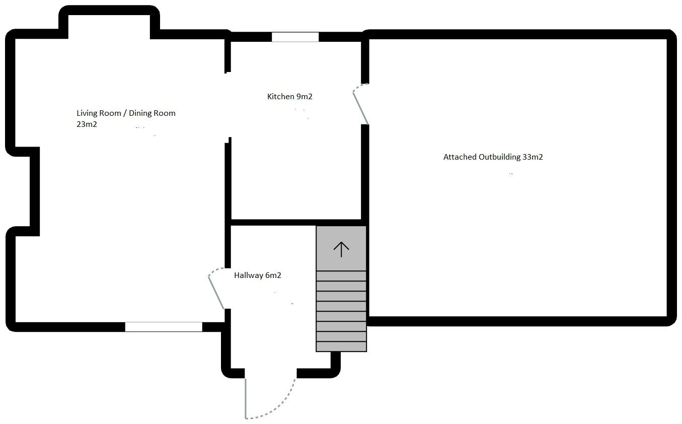 Barenton girls Groundfloor Plan Detached stone cottage Barenton