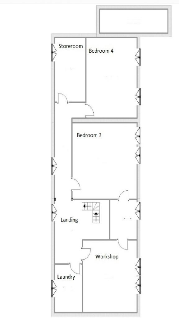 Anica plan 2nd floor 3 storey house with workshop