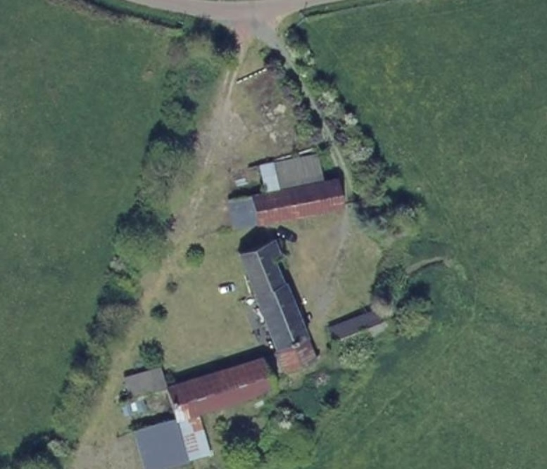 OWEN AERIAL substantial farmhouse