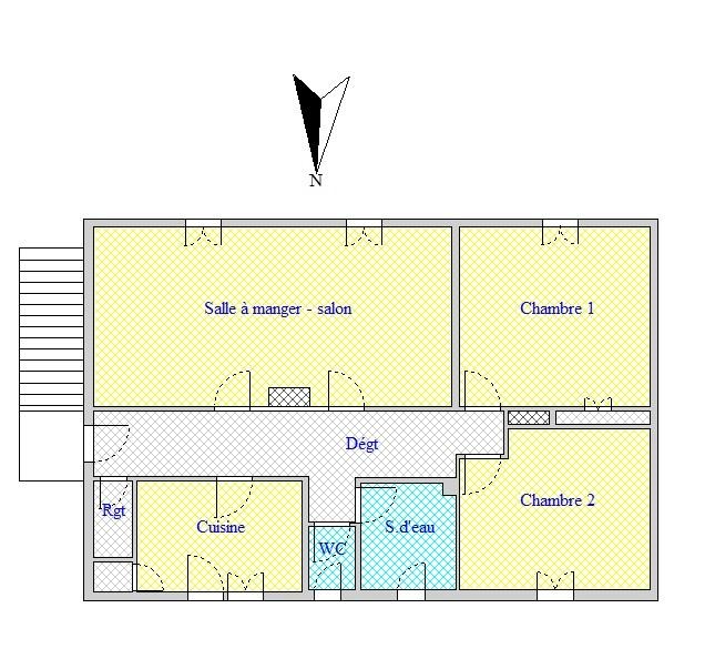 Hambye ecole 1st floor House in village near shops